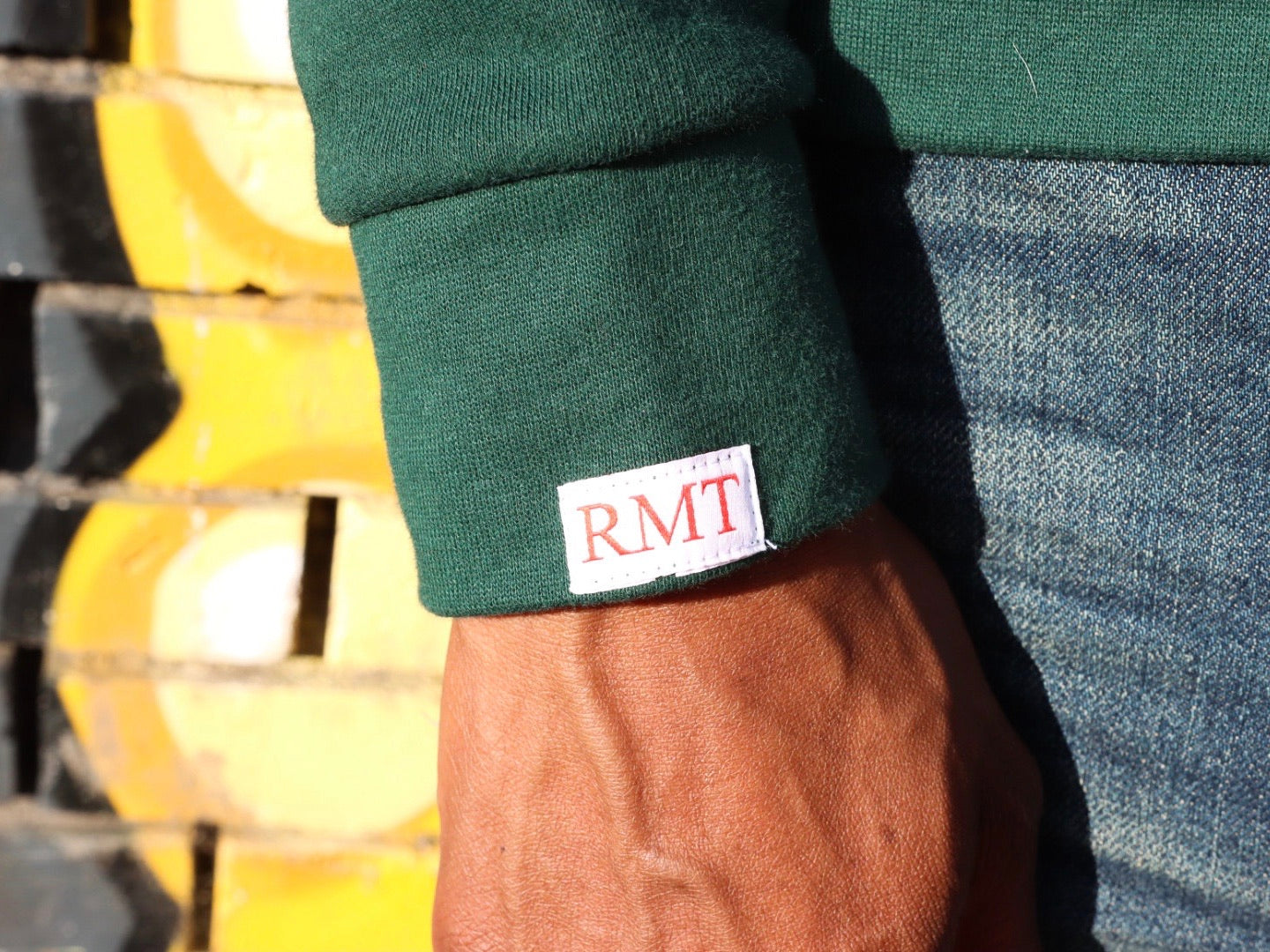 RMT4EVA Pocket Crewneck- Green/Red