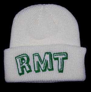 RMT Beanie - White/Metallic Green