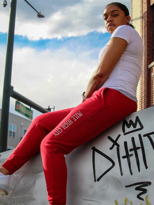 Mile High City Joggers- Red
