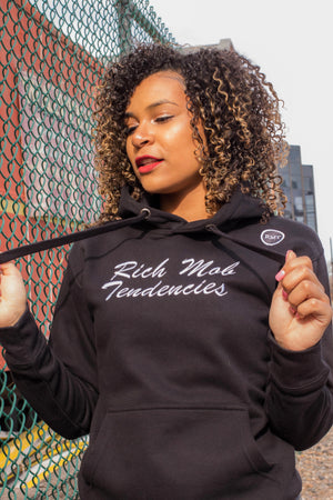 Rich Mob Tendencies OG Hoodie- Black/White