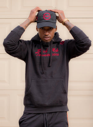 Rich Mob Tendencies OG Hoodie- Black/ Red