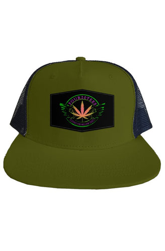 Four20tees Olive Green Mesh Back