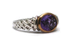Amethyst Ring in Sterling Silver and 14KY