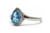 Blue Topaz and Diamond Ring in Sterling Silver