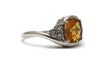 White Topaz and Citrine Ring in Sterling Silver