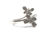 Diamond Ring in Platinum Plated Sterling Silver