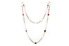 "Tourmaline Pearl Smokey Quarts Citrine Necklace 36"" in 14KY"
