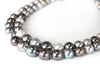 Multi-color Double Strand Tahitian Pearl Necklace
