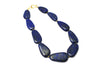 Lapis Lazuli Necklace with Gold over Sterling Silver