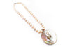 Freshwater Pearl and Blister Pearl Necklace with Sterling Silver and CZ
