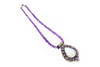 Amethyst Necklace with Moonstone and Sterling Silver