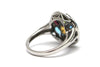 Diamond and Multi-gemstone Ring in 14K White Gold
