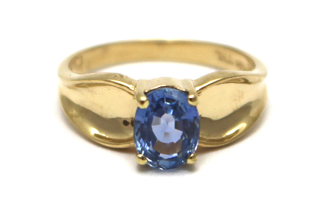 Sapphire Ring in 14KY