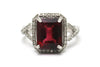 Diamond and Tourmaline Ring in 14KW