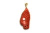 Red Coral Pendant in 18K Yellow Gold