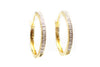 Diamond Hoop Earrings in Gold over Sterling Silver
