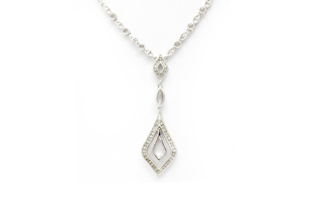 Diamond Necklace in Sterling Silver