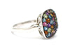 Multi-gemstone Ring in Sterling Silver