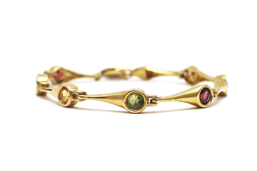 Multi-gemstone Bracelet in 14K Yellow Gold