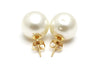 13.5mm South Sea Pearl Earrings in 18k Yellow Gold
