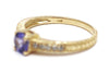 Diamond and Tanzanite Ring in 14k Yellow Gold