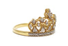 Diamond Crown Ring in 14k Yellow Gold