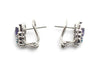 Diamond, Amethyst and Blue Topaz Butterfly Earrings in 14k White Gold