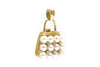 Diamond and Pearl Pendant in 14k Yellow Gold