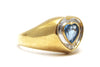 Diamond and Blue Topaz Ring in 14k Yellow Gold