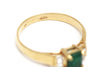 Diamond and Emerald Ring in 14k Yellow Gold