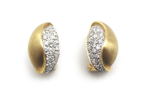 Diamond Earrings in 14k Yellow Gold