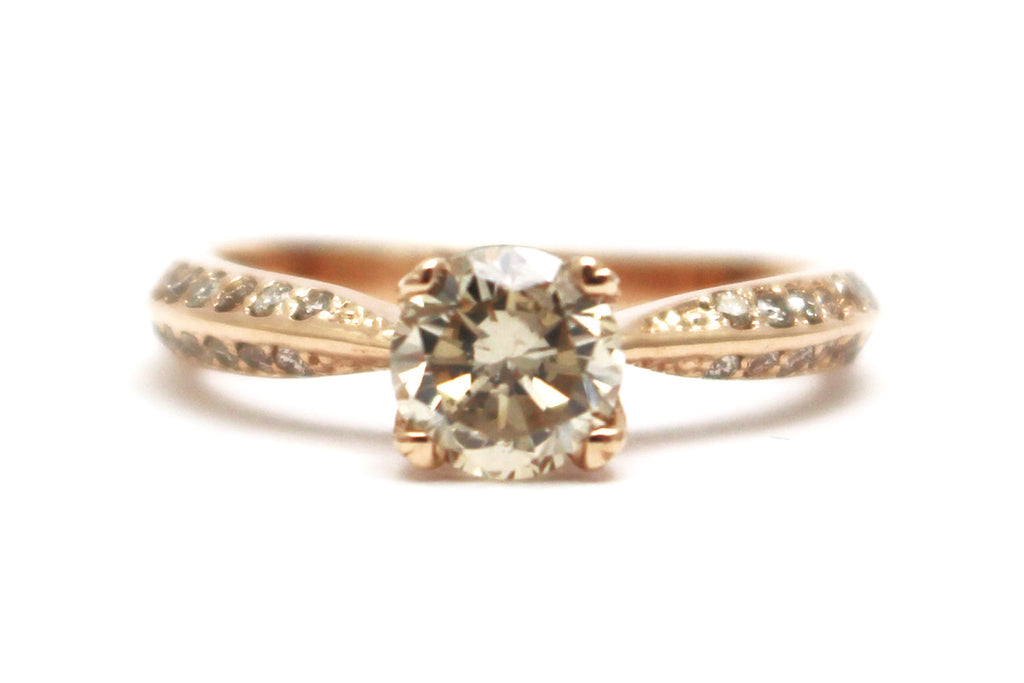 Diamond Ring in 14k Rose Gold