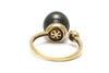 Tahitian Pearl and Diamond Open Ring in 14k Yellow Gold