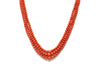 3 Strand Italian Coral with 14K Yellow Gold Clasp