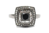Black and White Diamond Ring in 14KT