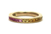 Multi Color Sapphire Ring in 18k Yellow Gold