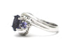 Tanzanite and Iolite Ring in 14k White Gold