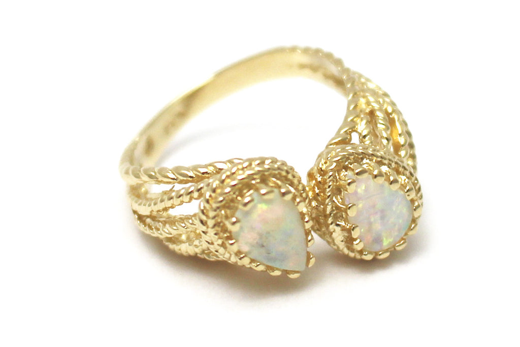 Opal Ring in 14K Yellow Gold
