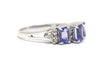 Diamond and Tanzanite in 14k White Gold