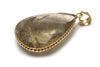 Golden Rutilated Quartz Pendant in 14k Yellow Gold