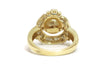Diamond and South Sea Pearl Ring in 14k Yellow Gold