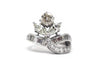 Flower Diamond Platinum Ring
