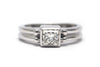 Princess Cut Diamond Ring in 14k White Gold