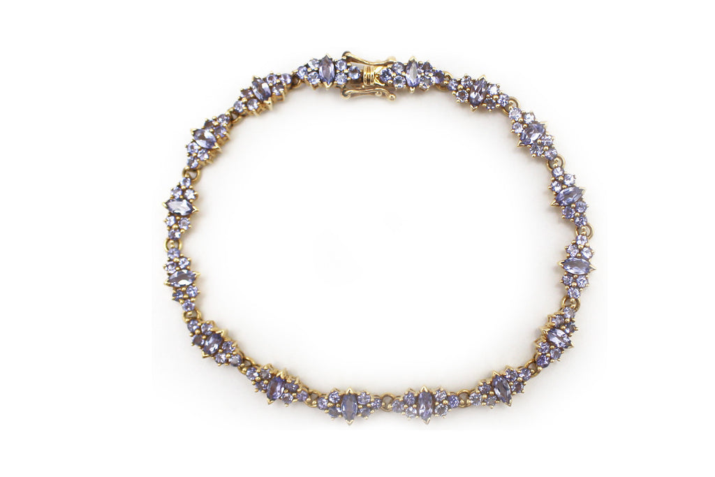 Tanzanite Bracelet in 14k Yellow Gold