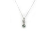 Tahitian Pearl Necklace with Diamond in 14K White Gold