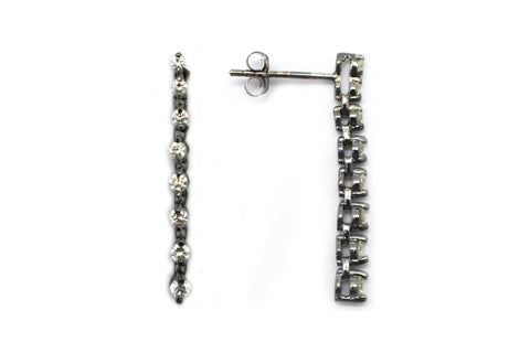 Diamond Earring in 14k White Gold