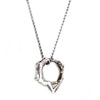 Athena Platinum over Sterling Silver with Diamond, Ring & Necklace