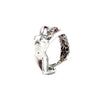 Athena Platinum over Sterling Silver Ring with Diamond Ring