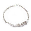 Athena Platinum over Sterling Silver Double Row Bracelet with Diamond