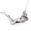 Athena Platinum over Sterling Silver Necklace with Diamond